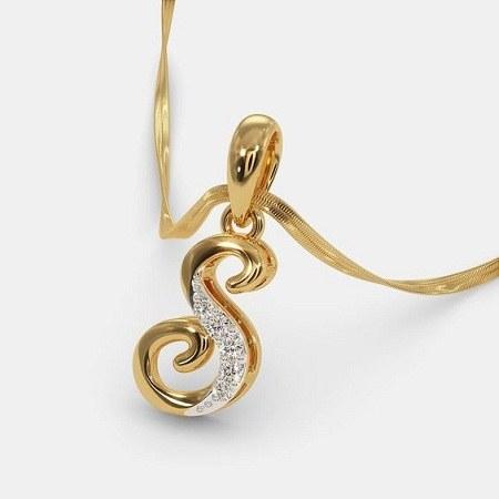 عکس دستبند طلای حرف s